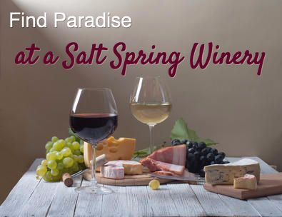 Check out the local Salt Spring Wineries for food, wine and music. #wine #saltspring #travel #winetasting