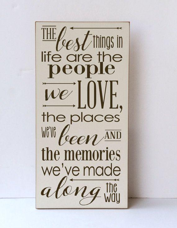 Beste dingen in het leven mensen die We liefhebben houten