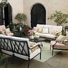 Frontgate Grayson Black Outdoor Furniture Collection - Patio Furniture Sets