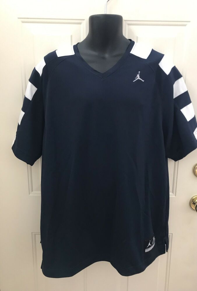 466a82ea88e8ce Nike Mens XL Jordan Basketball Dri Fit Shooting Tee Blue T Shirt Jumpman V  Neck  Nike  ShirtsTops
