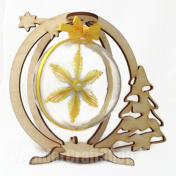 yellow christmas snowflake christmas ornament by WonderCraftShop