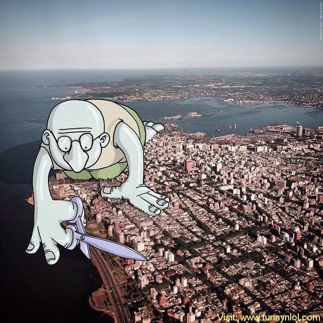 Illustrator Adds Funny Cartoons To Strangers' Instagram Photos by http://www.funnynlol.com/creative/illustrator-adds-funny-cartoons-strangers-instagram-photos