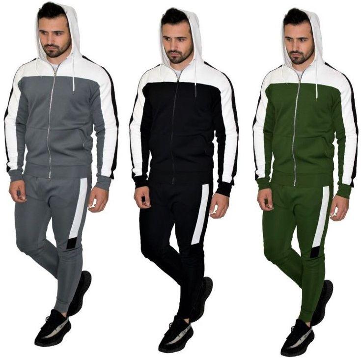 Boycott Mens Tracksuit Fleece Designer Slim Zipper Hooded ...