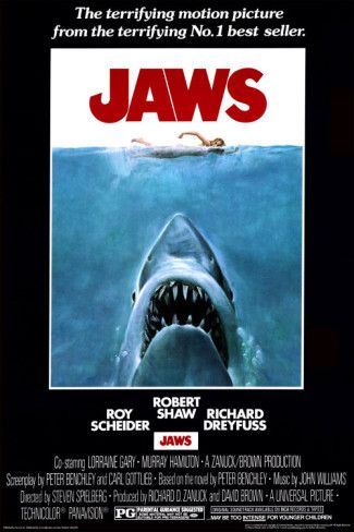 One of the greatest scary movies, ever!  This is a classic poster.  Perfect for your beach house!