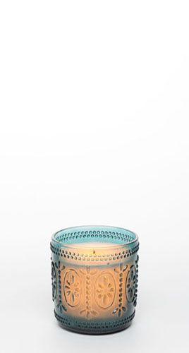 "4"" Ameila Glass Jar w/ Programmable Timer, Teal"