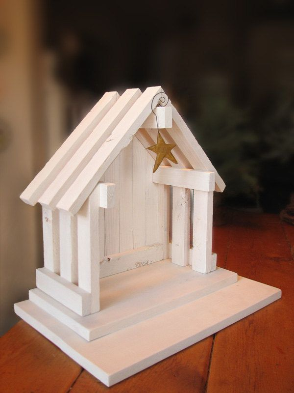 Nativity Creche Stable for Willow Tree - WITH PLATFORM. $60.00, via Etsy.
