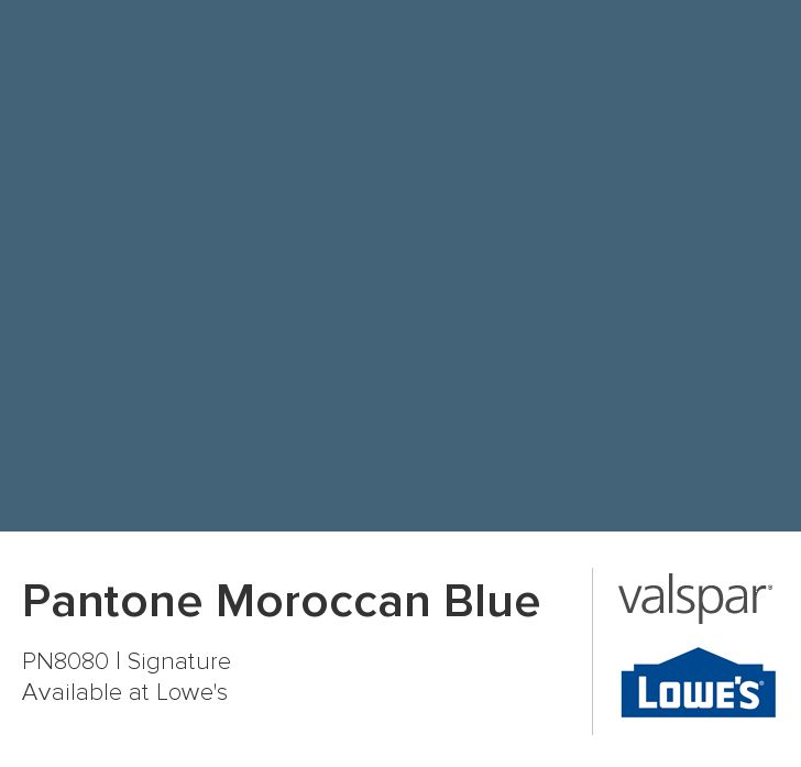 Pantone Moroccan Blue From Valspar Paint Color Ideas