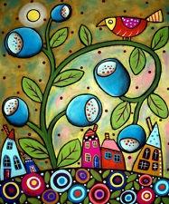 KARLA GERARD:  TULIP TOWN --- ART PRINT