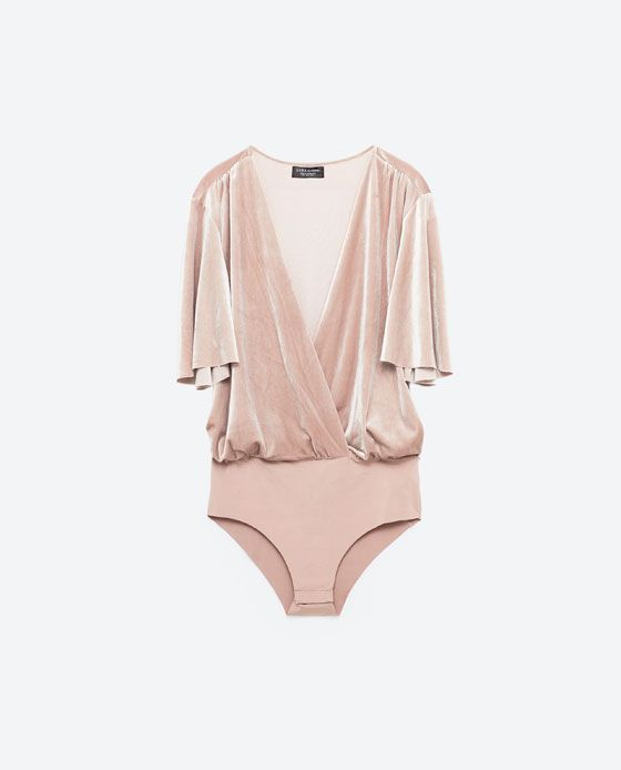 Image 8 of SPECIAL EDITION VELVET BODYSUIT from Zara