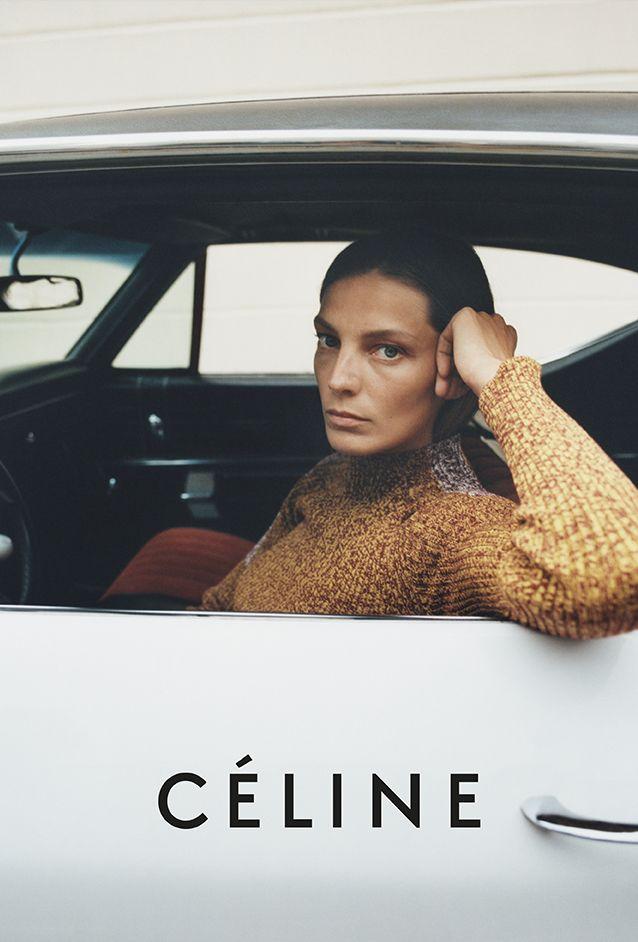 Daria Werbowy by Tyrone Lebon for Céline Resort 2015 Campaign