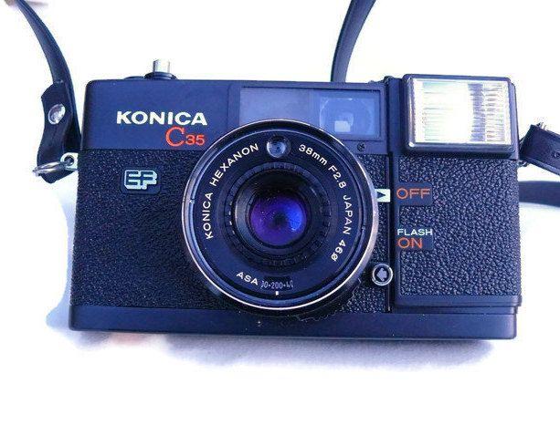 Konica C35 EF, Rangefinder Camera, Point And Shoot Camera, Vintage Camera, 35mm Camera, Konica Camera, 35mm Film Camera, Analogue Camera by HarmlessBananasTribe on Etsy