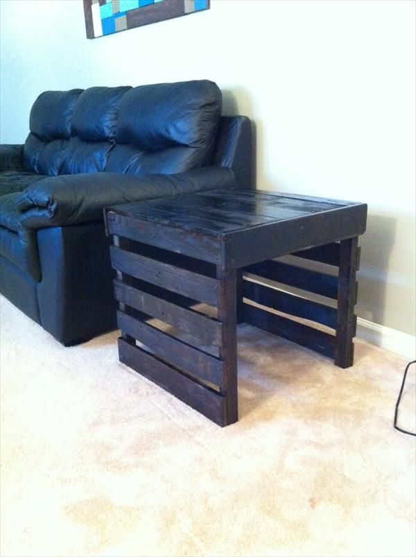 DIY Pallet End Table | Pallet Furniture DIY