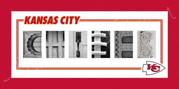 Kansas City Chiefs Alphabet Photo Collage By