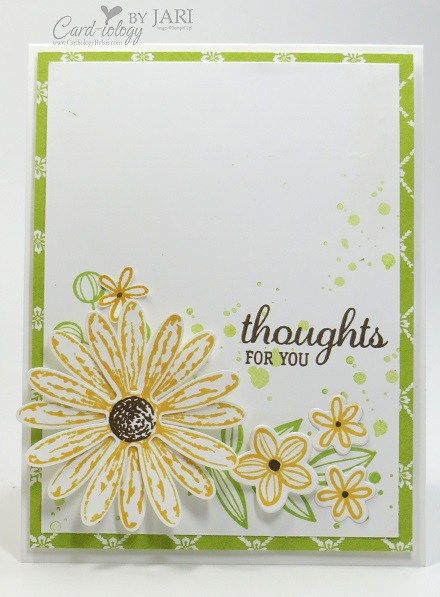 Today, I am sharing another sneak peek of the Daisy Delight Bundle (available June 1st) from the upcoming 2017-2018 Annual Catalog. Just a few more days and you will be receiving your new catalog, if