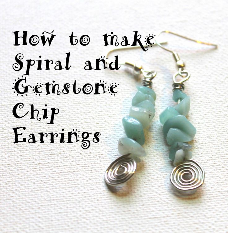 How to Make Spiral and Gemstone Earrings