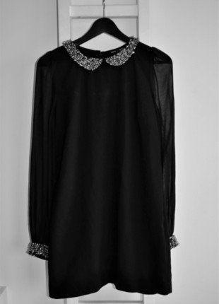 Kup mój przedmiot na #vintedpl http://www.vinted.pl/damska-odziez/sukienki-wieczorowe/17043465-sukienka-pensjonarka-mala-czarna-impreza-cekiny-przeswitujace-rekawy-bufiaste-elegancka-bal