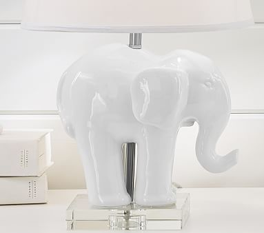 Ceramic Elephant Base #pbkids --  This is probably a more financially viable option for a table lamp for the nursery.  It's much more affordable than the jonathan adler giraffe lamp.