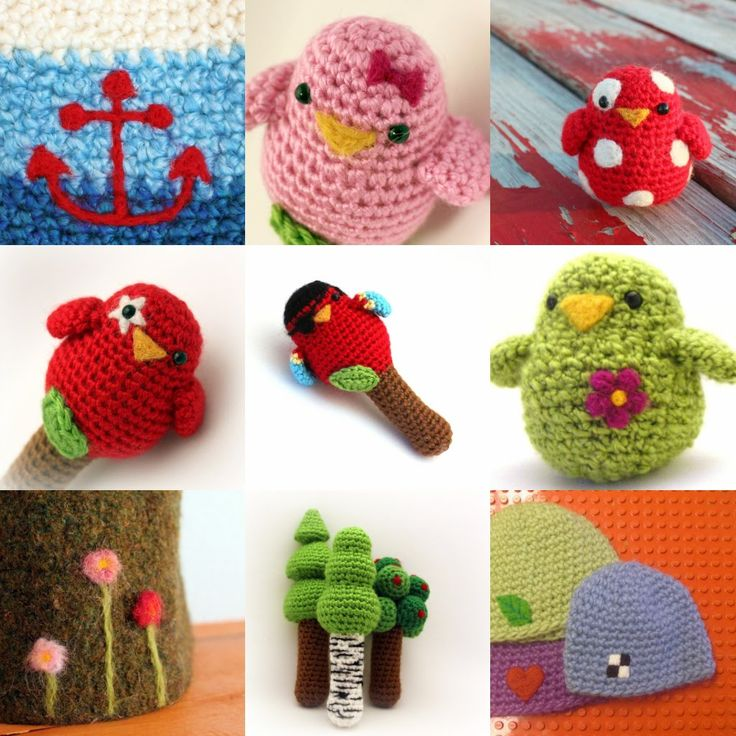 Will be fun to try felting flowers on beanies or head warmers and  or faces for the animal beanies instead of hand crochet. EASY: Needle Felting and Crochet