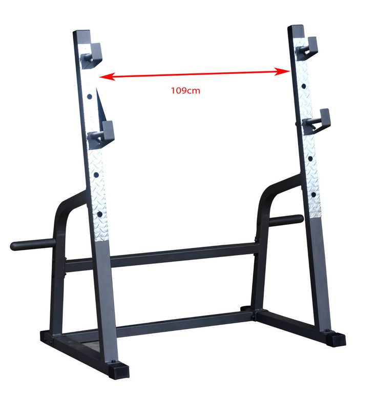 Safety Stands For Bench Press Part - 28: Adjustable Squat Rack Barbell Weight Lifting Stand Bench Press Home Fitness  Tool