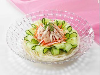きゅうりと鶏肉のサラダそうめん とっておきレシピ キユーピー