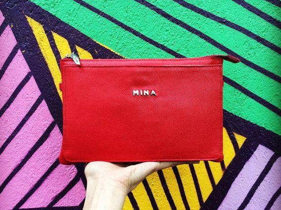 CORAIL rouge sac  besace en cuir rouge  cuir par MinaShoes sur Etsy
