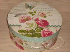 Pretty French Style Floral Hat Box Storage Box