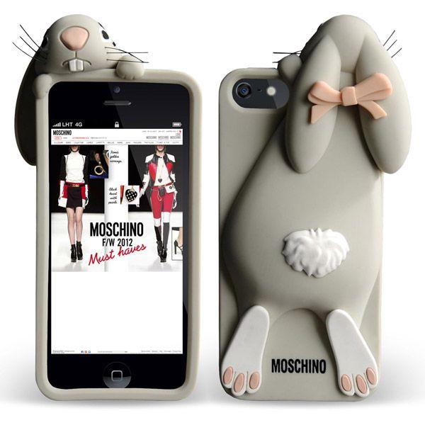 moschino iphone 5 case violetta rabbit