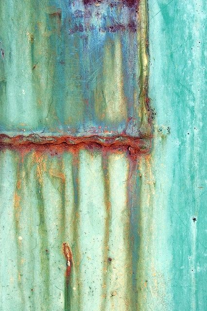 Oxidation in Turquoise by janet little, via Flickr