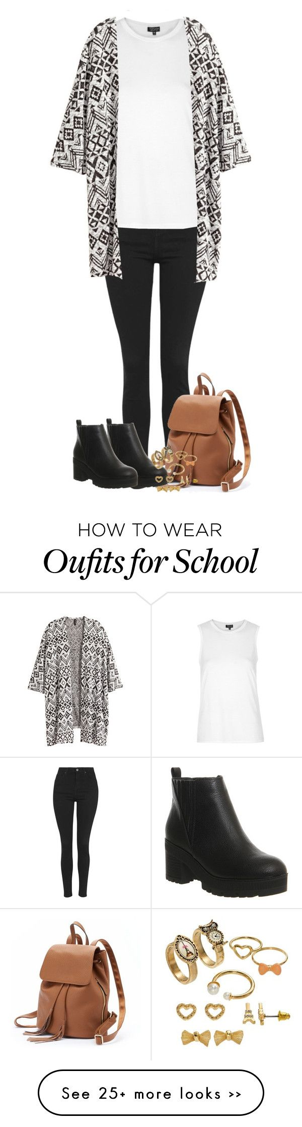 """""""back to school"""" by zayngirl27 on Polyvore featuring Topshop, H&M, PAVA, Office and SO"""