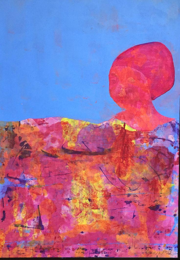Akryl collage 50x70 cm
