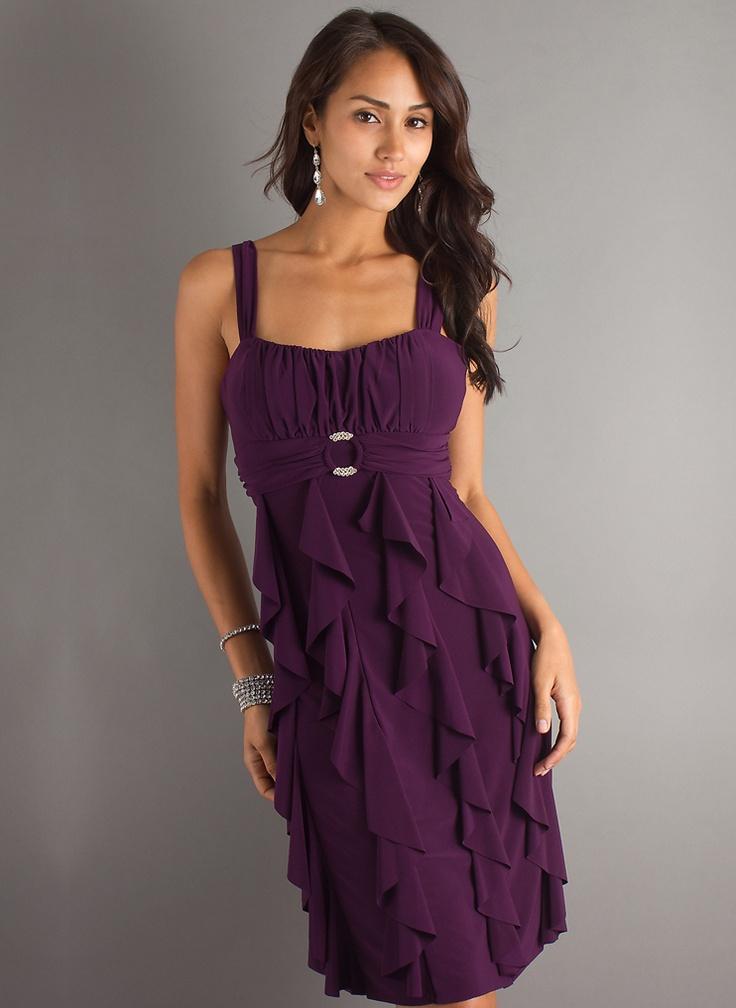 A-line Straps Neckline Mini Beadings Cockatil Dress - Basadress.com