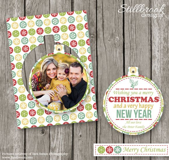 Christmas Card Template for Millers by Stillbrook Designs on Creative Market