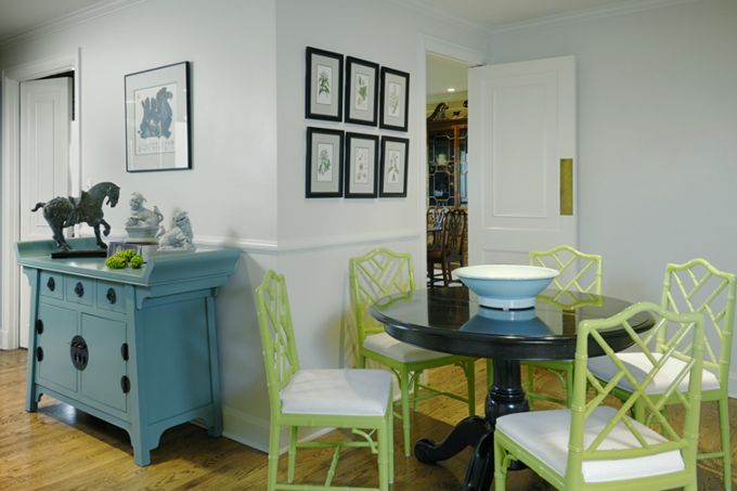 House of Turquoise @josieleejensenColors Combos, Dining Room, Kitchens Chairs, Blue Green, Dining Chairs, Interiors Design, Chic Home Decor, Painting Chairs, Bold Colors