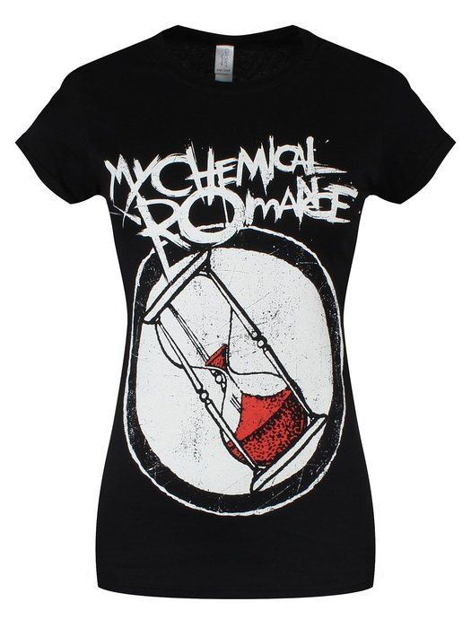 My Chemical Romance Women's Hourglass Combo Skinny T Shirt - Small, Black
