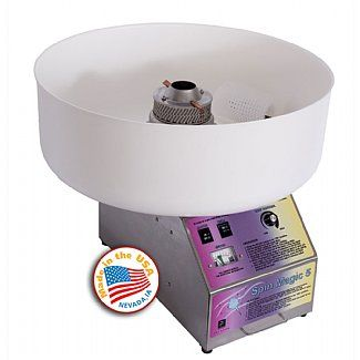 Ships within 1-3 days via Common Carrier Cotton Candy MachineAdd An Optiona Bubble TopCapacity - Up To 200 Cones Per HourStainless Steel and Plastic3 Year WarrantyMade In The USA