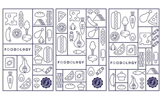 Foodology illustration - branding