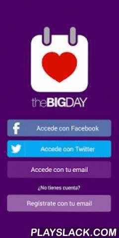 The Big Day - Red Social Boda  Android App - playslack.com , ¿Has recibido una contraseña para la boda de un amigo? ¡Esta es la app que necesitas bajar! The Big Day es la primera red social para el día de tu boda, con The Big Day tus invitados podrán subir fotos, hacer comentarios, darle al me gusta e incluso firmar el libro de visitas! Además contratando The Big Day te mandamos a casa tarjetas de invitación con la contraseña elegida y después de la boda un album físico con los mejores…
