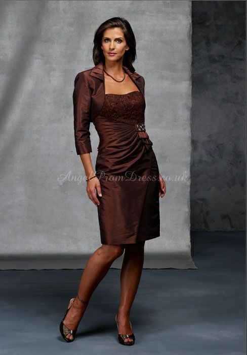 Short Taffeta Mother of the Bride Dresses