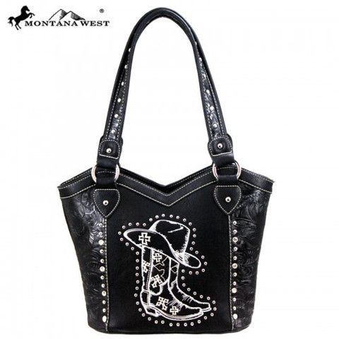 WESTERN COWGIRL COLLECTION HANDBAG - BLACK