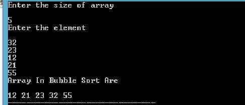 PROGRAMMING WITH C, C++ & JAVA: Write A Program To Sort An Array Using BUBBLE SORT...