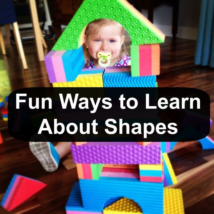 Use this list of fun activities as ways to teach your toddlers and preschoolers about shapes.