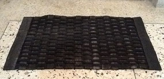 "Doormat made from Recycled Bicycle Tyres.  A whole new meaning to ""Recycling"""