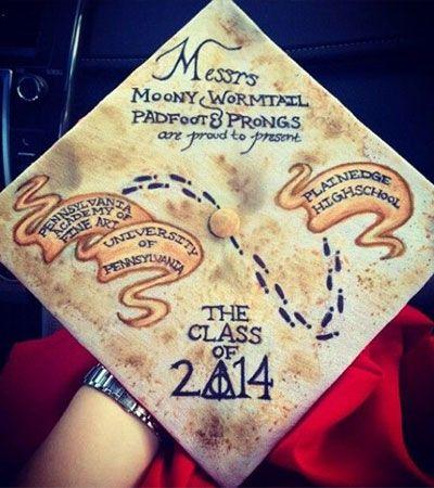 SO clever! #HarryPotter graduation cap ides