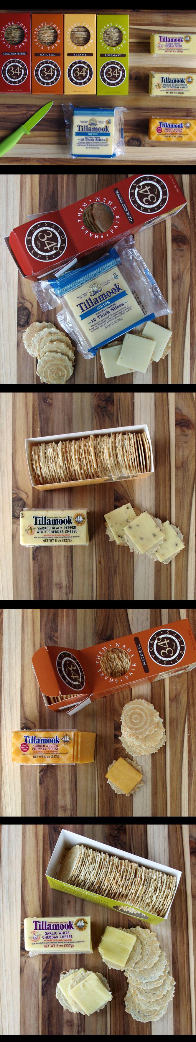 Cheese and cracker pairing guide! http://www.tillamook.com/community/loaflifeblog/tillamook-cheese-and-34o-crisps-pairing-guide/?utm_source=pinterest&utm_medium=social+media&utm_campaign=general @Tillamook and  Degrees
