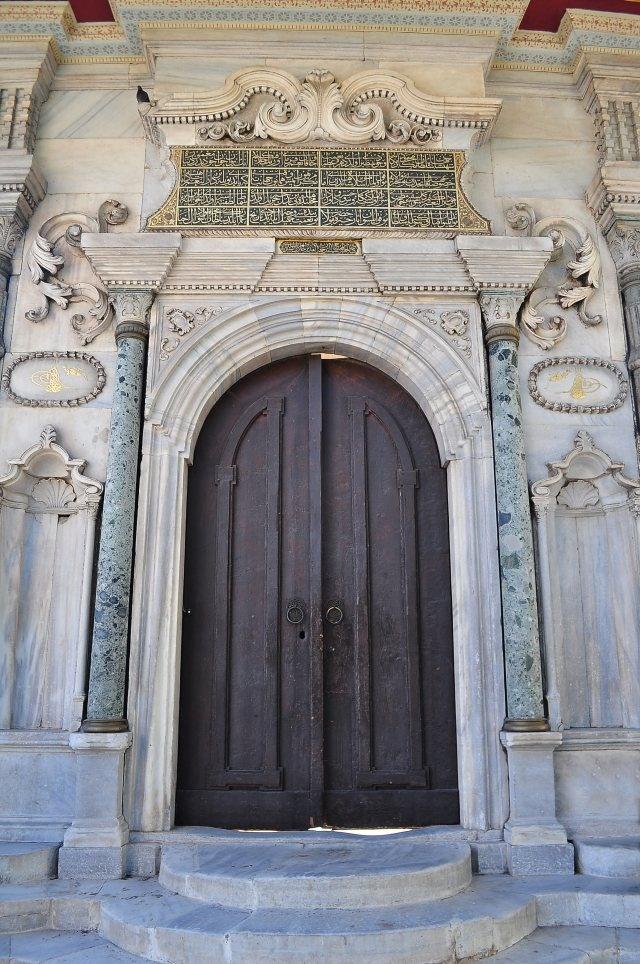 Hagia Sophia church's back door. istanbul. Aya sofyanın arka kapısı