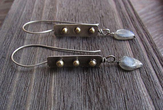 Sterling Silver Earrings Labradorite Earrings by MaryBulanova