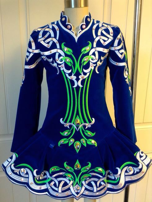 I like this color combination, embroidery, and skirt style (Prime Dress Designs)