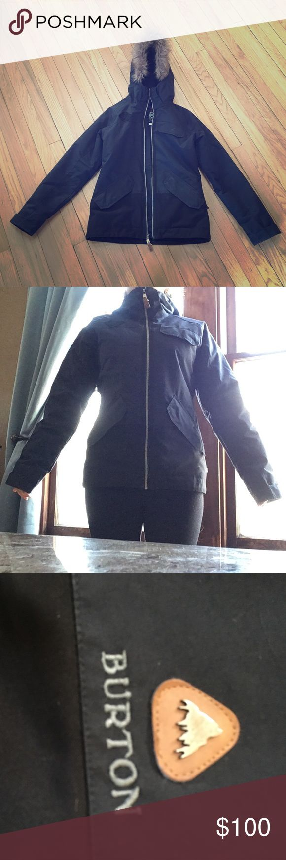 Burton snowboard jacket Burton snowboard black jacket in great condition. This is from Burton's dry ride series. It's an awesome coat that keeps you warm, just doesn't fit me anymore. Fits true to size. Burton Jackets & Coats