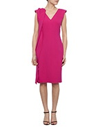 Carl Kapp Sunshine Double Wool Crepe Dress  #CarlKapp #davidjones #pink #dress #style #sophistication #fashion