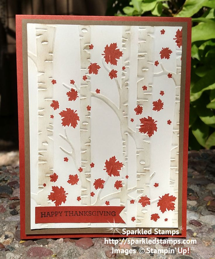 Woodlands Textured Embossing Folder from Stampin' Up! | Sparkled ...